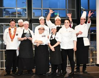 Photo of RTC culinary students who took the top honors at 2019 Bite of Apprentice.
